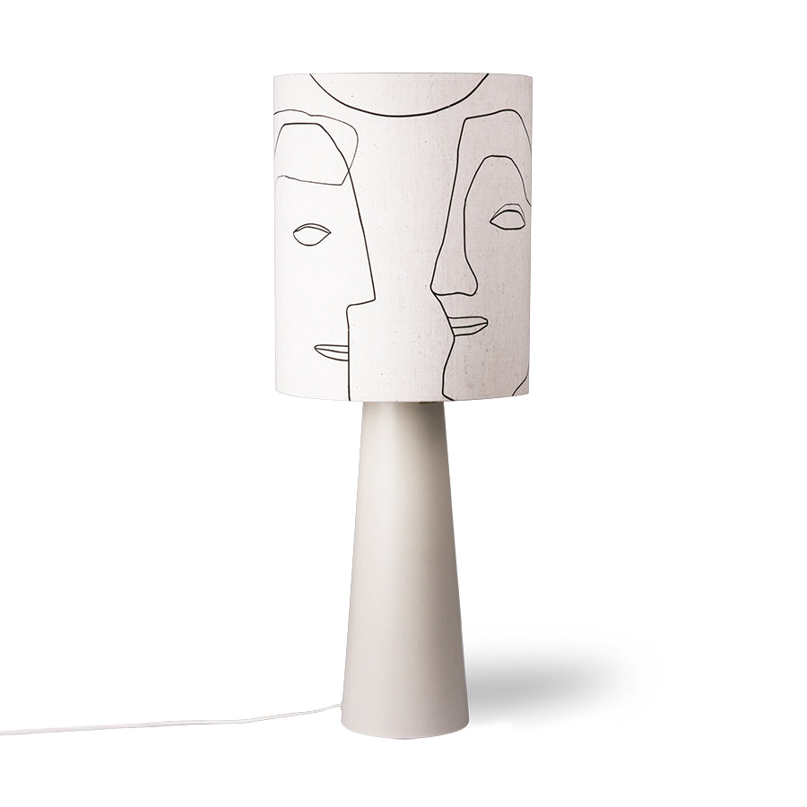 Printed faces lampshade L