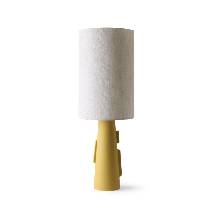 Cone lamp base S with handles matt green