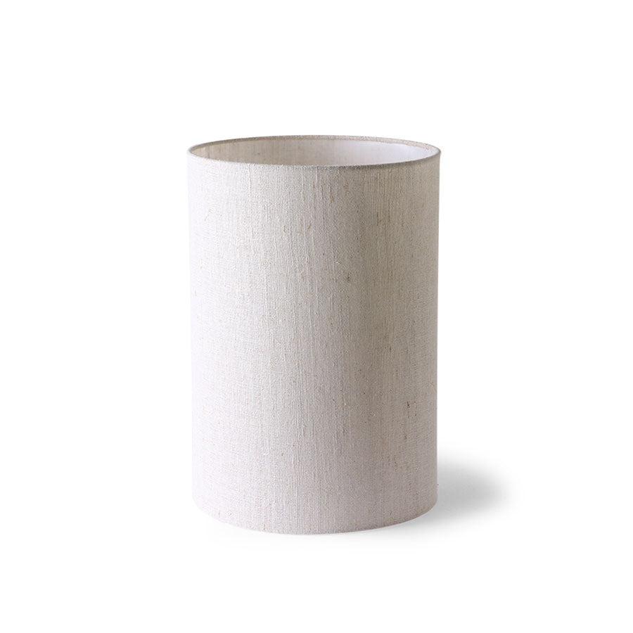 cilinder lamp shade natural linen ø24,5