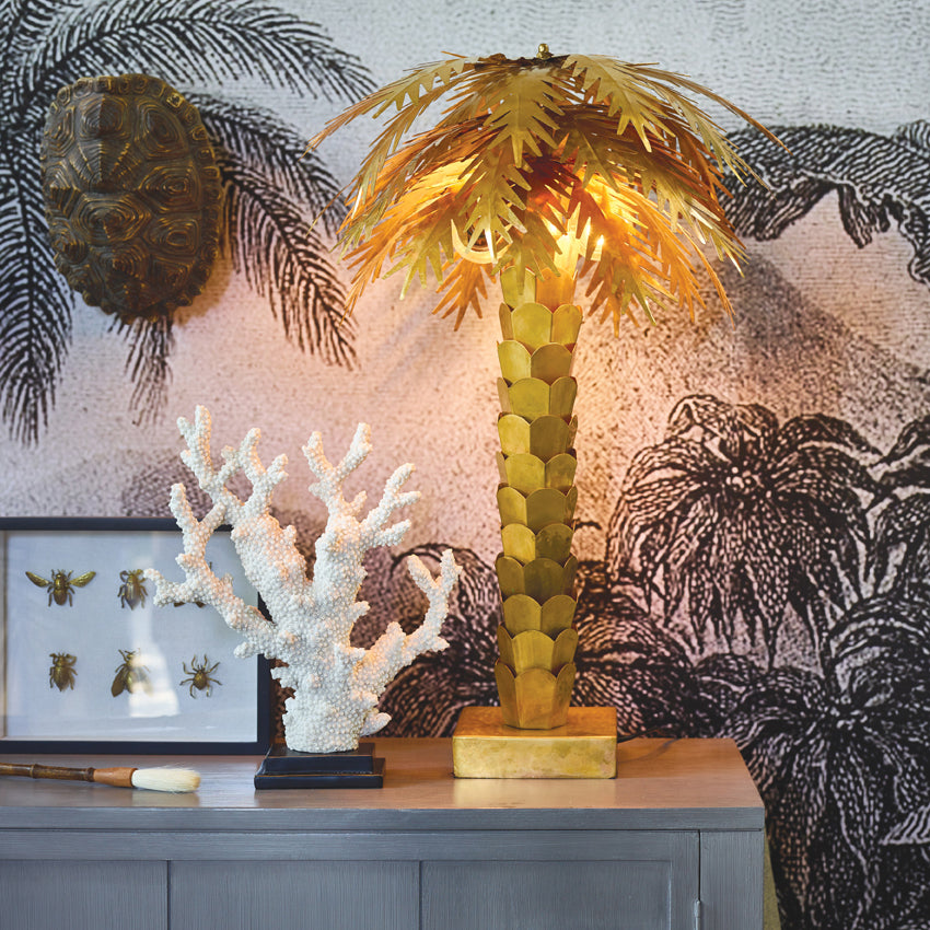 *NEW* Brass palm lamp