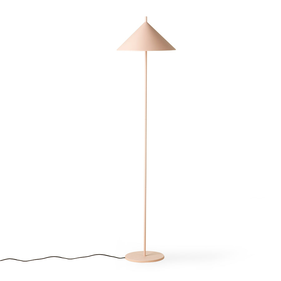 Metal triangle floor lamp nude