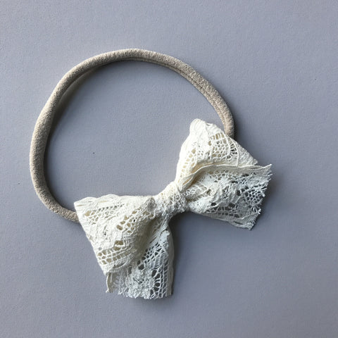 Lace 'Isla' Bow - Natural