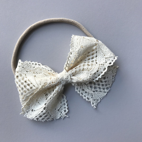 Lace 'Bella' Bow - Natural