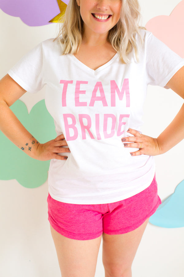 TEAM BRIDE PINK PYJAMA SET