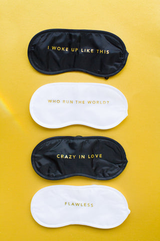 BEYONCE LYRIC SLEEP EYE MASKS