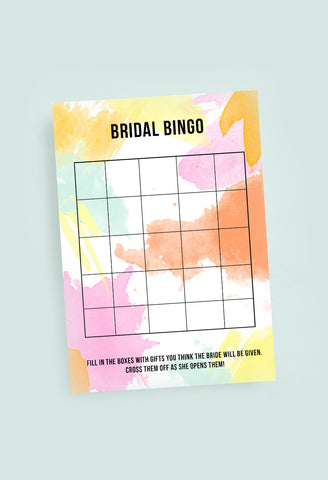 BRIDAL BINGO WEDDING BRIDAL SHOWER GAME