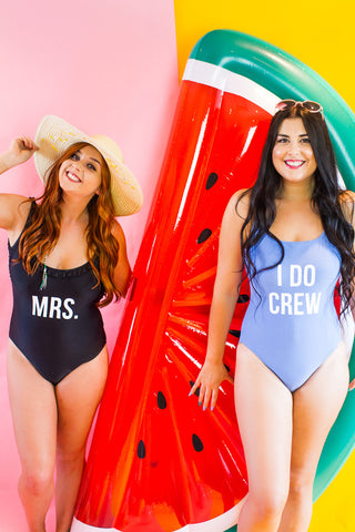 MRS / I DO CREW IRON ON LETTERS