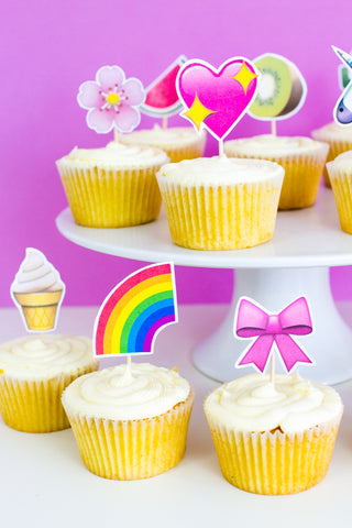 EMOJI CUP CAKE TOPPERS PRINTABLE