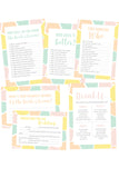 ENGAGEMENT PARTY / WEDDING GAMES PACK BRIDE & GROOM EDITION