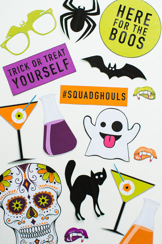 HALLOWEEN PHOTO BOOTH PROP PRINTABLES
