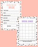 BRIDAL SHOWER / HEN / BACHELORETTE PARTY CONFETTI THEMED GAMES PACK