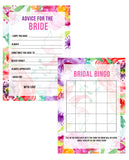 BRIDAL SHOWER / HEN / BACHELORETTE PARTY FLORAL FLOWER GAMES PACK