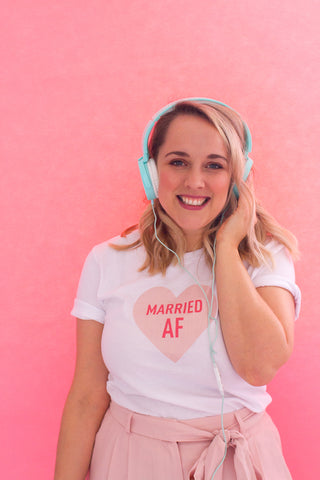 MARRIED AF HEART T-SHIRT