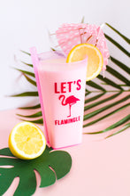 'LET'S FLAMINGLE' GLASS FLAMINGO STICKERS (Pack of 10)