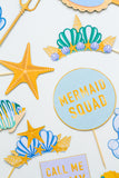 MERMAID THEMED PHOTO BOOTH PROPS PRINTABLES