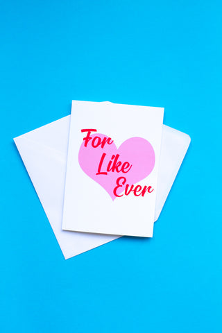 FOR LIKE EVER WEDDING / ENGAGEMENT CARD