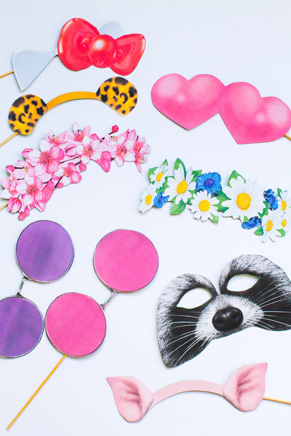 SNAPCHAT PHOTO BOOTH PROP PRINTABLES (NEW FILTERS!)
