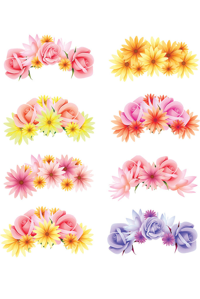 Flower crown photo booth prop printables bespoke bride for Flower crown coloring page