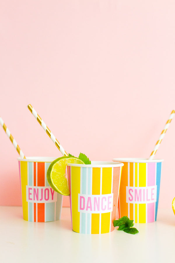 BRIDAL SHOWER / HEN / BACHELORETTE PARTY PRINTABLE RAINBOW CUP WRAPPERS