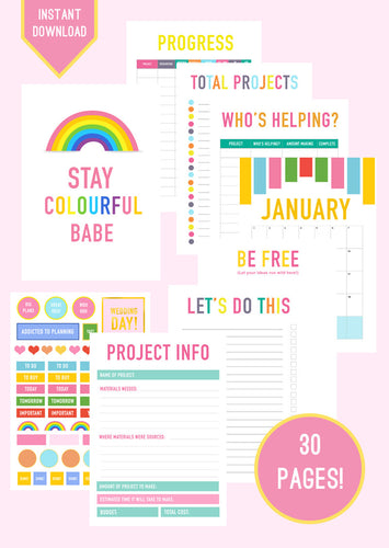 DIY WEDDING PLANNER & ORGANISER