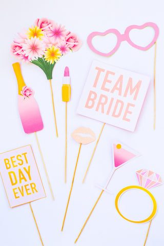 BRIDAL SHOWER / BACHELORETTE PARTY PHOTO BOOTH PROPS PRINTABLES