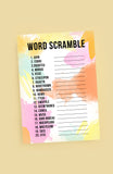 WORD SCRAMBLE WEDDING GAME