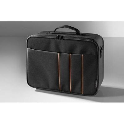 (Doppelt) celexon Projector Case Economy Line | Large Size | 16 x 11 inches | Projector carrying case with hard shell frame | Detachable shoulder strap | Customizable interior | Waterproof and washable