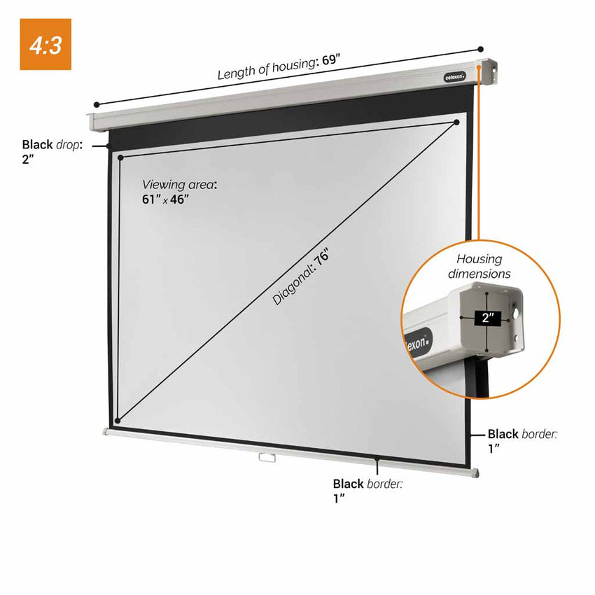 celexon Manual Professional - Manual pull down projector screen
