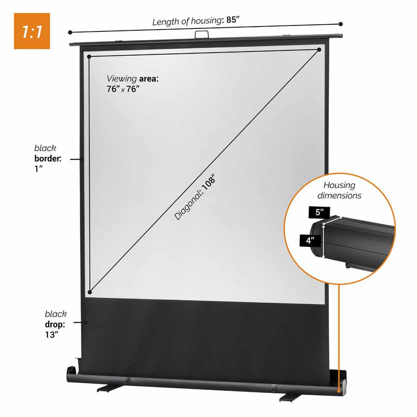 celexon Mobile Professional Plus - Portable pull up projector screen
