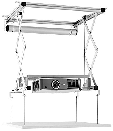 celexon Projector Ceiling lift PL400 HC Plus - 120V | Motorized ceiling lift for projectors | Load up to 66lbs