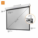 celexon Manual Professional Plus - Manual pull down projector screen