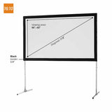 celexon Mobile Expert folding frame screen - front projection