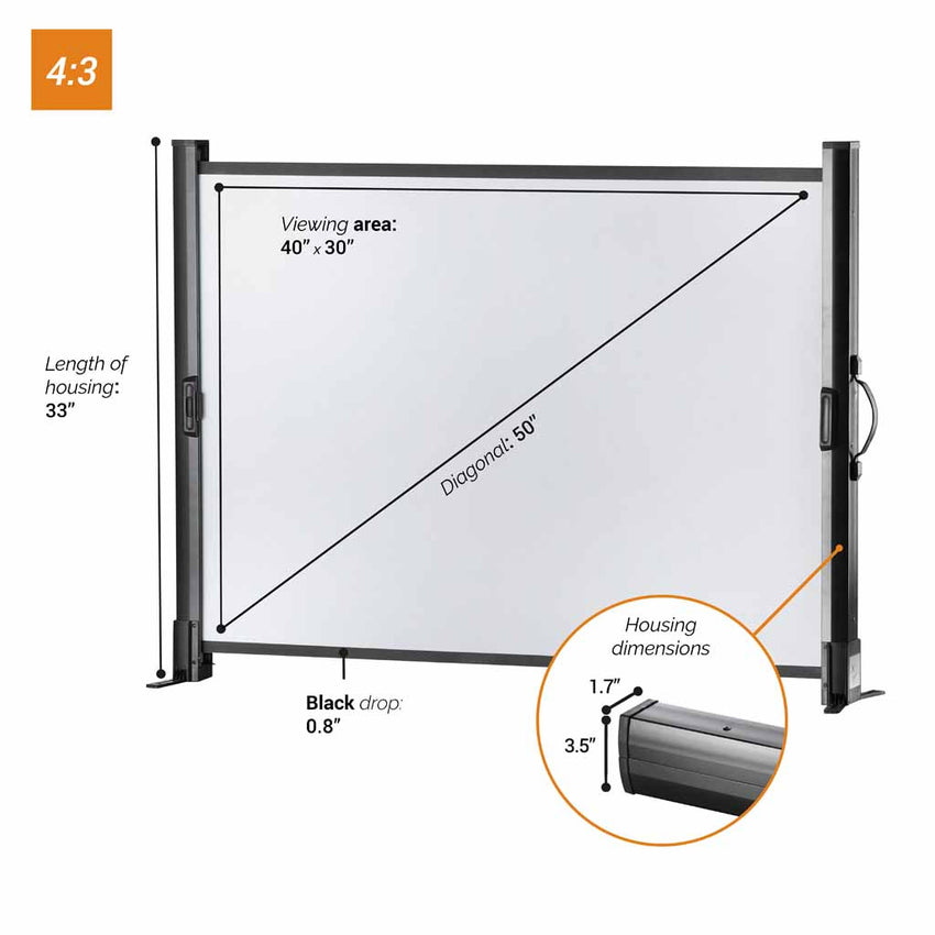 celexon Tabletop Mobile Professional - Portable projector screen