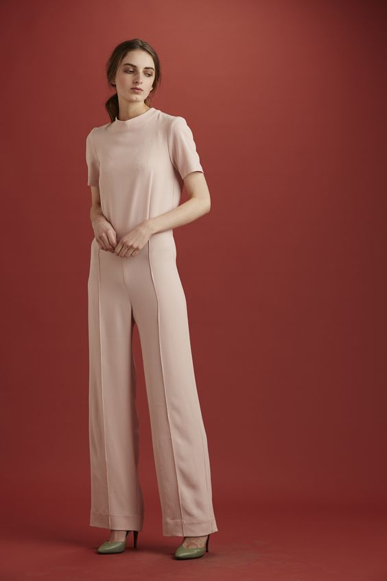 Archive - Clarin Jumpsuit, polyester, pink