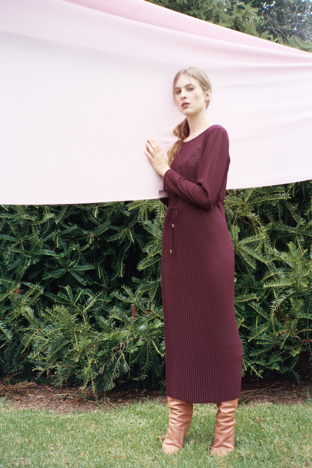 Venice dress, amaranth