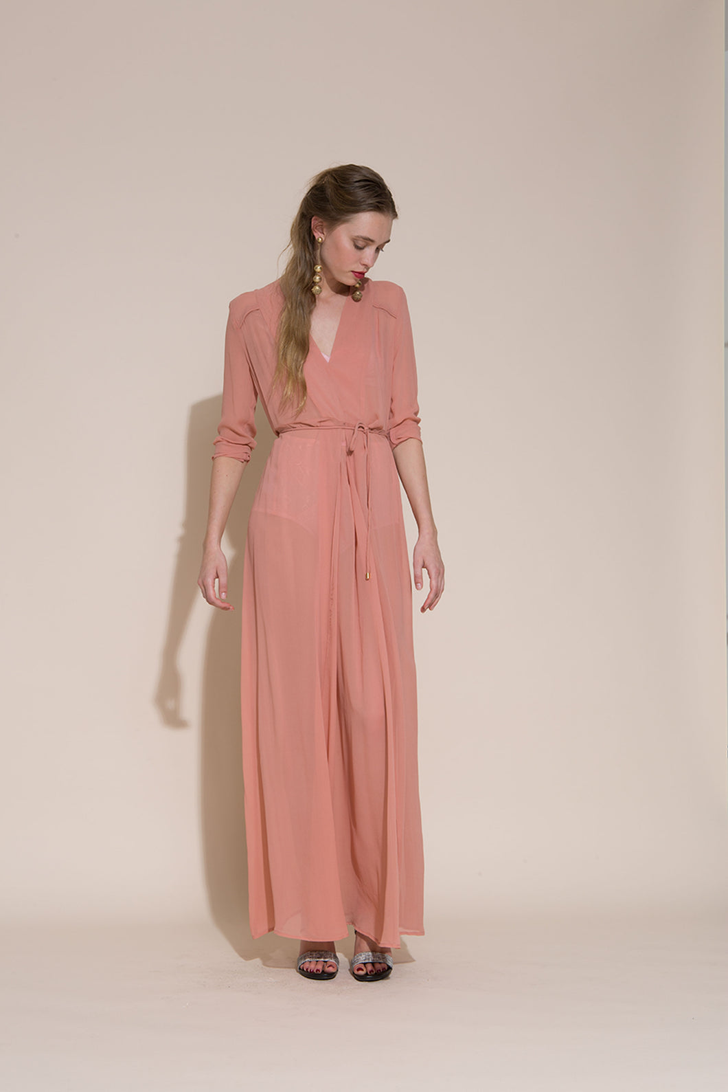 Archive- Charlotta night dress, silk, carnation, SS17