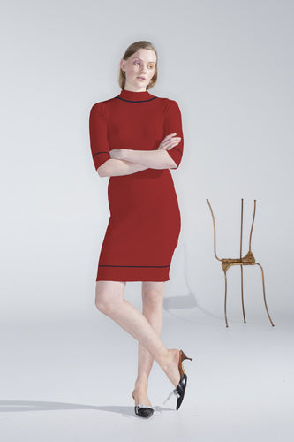Sample - Cypra Dress, rose red