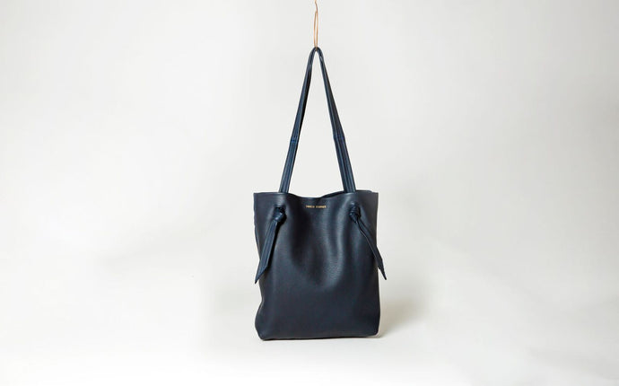 Ingrid Starnes leather tote, deer nappa, ink