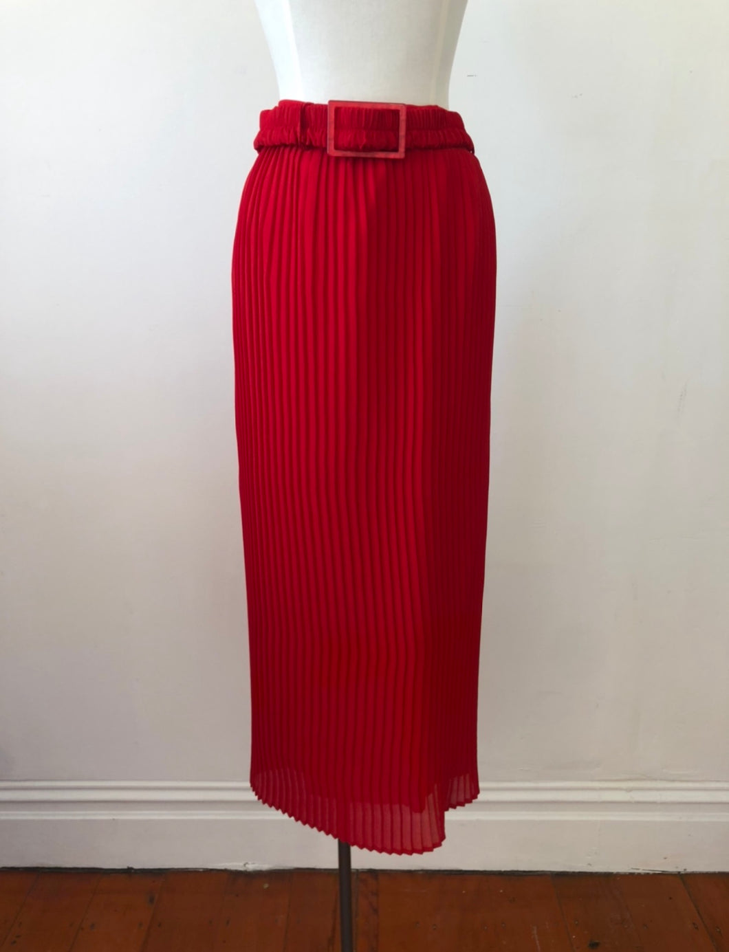 Sample/One of a kind- Olympia skirt, scarlet
