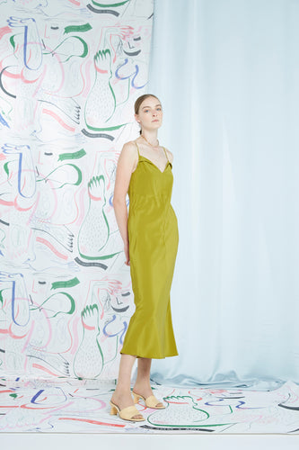 Archive- Marcel dress, chartreuse