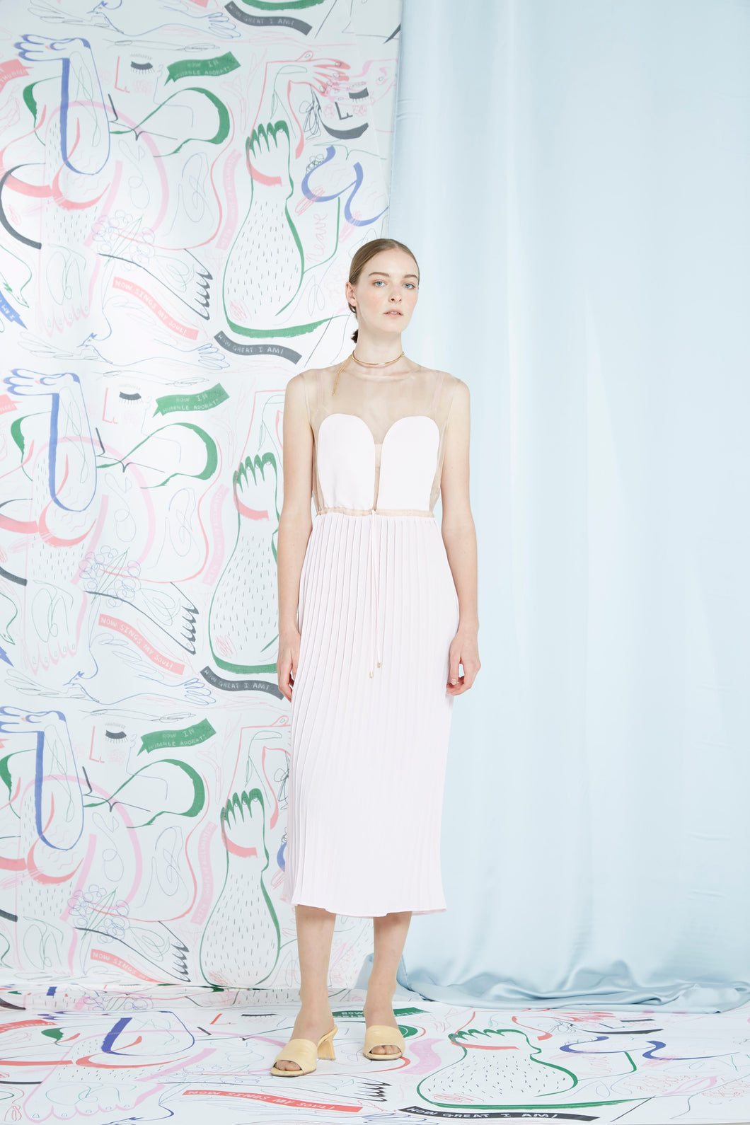 Archive- Odessa dress, washed pink