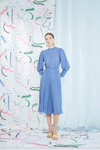 Quinta Pleat Dress, iris