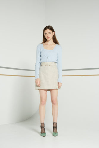 Sloan skirt, oatmeal