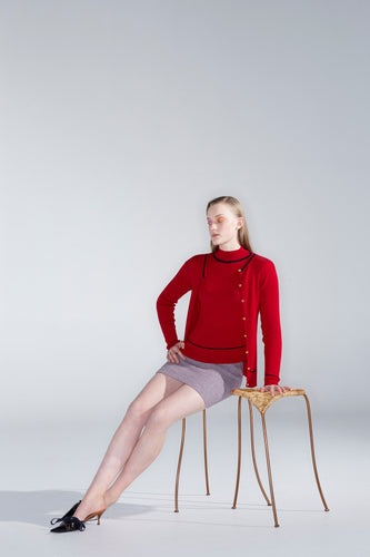 Moontide jumper, rose red