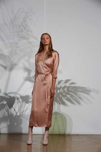Adelia wrap, viscose, blush
