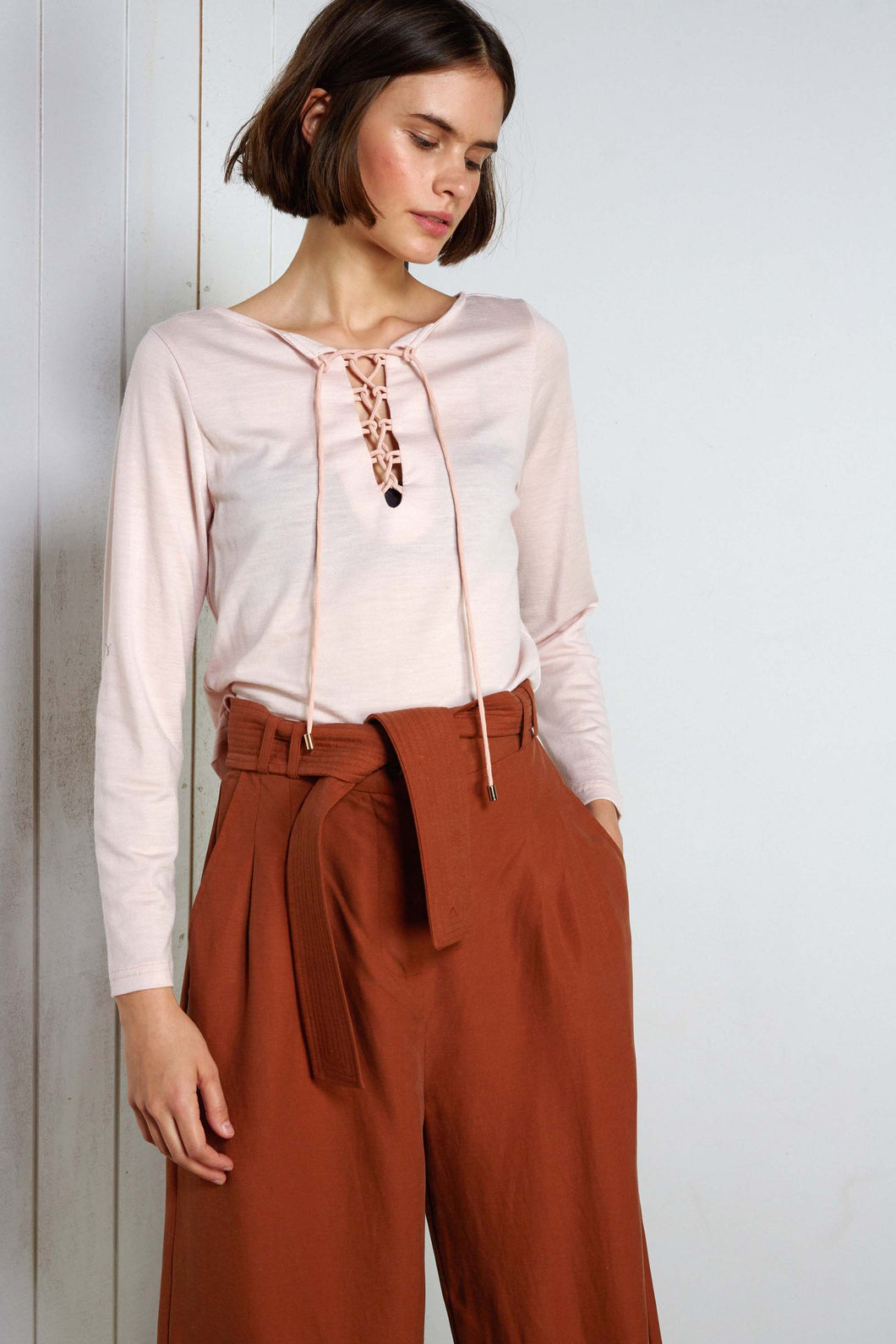 Sample - Verona Top,  AW19,  sorbet pink