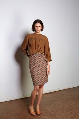Iago skirt, hunting check