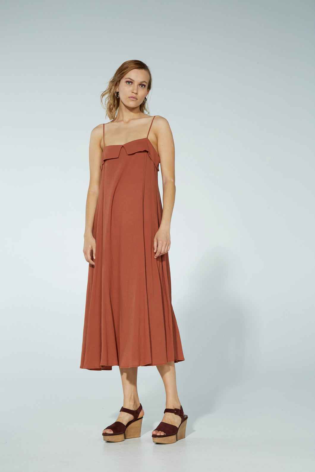 Foggy dress, cotton, nutmeg