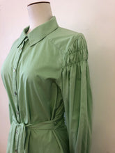 Sample/One of a kind, Imperial Violets shirt dress, pistachio