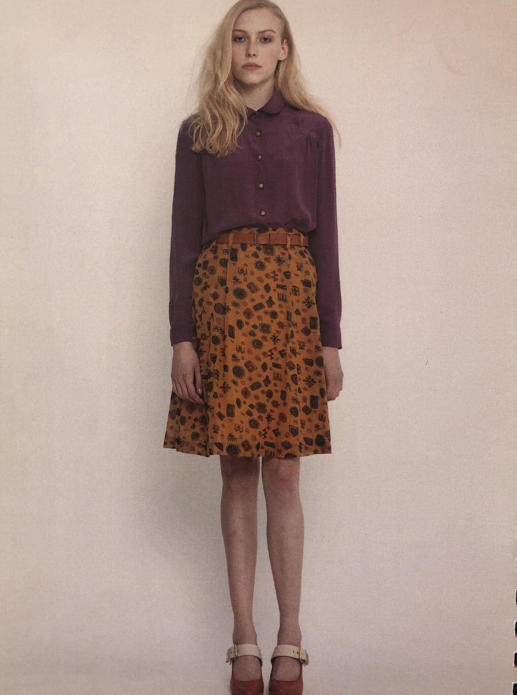 Archive - Margaret Skirt, AW13, tabacco
